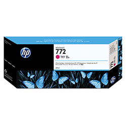 HP 772 Magenta Ink Cartridge, Model CR252A, Page Yield 300 ml