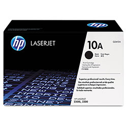 HP 10A Black Toner Cartridge, Model Q2610A, Page Yield 6000