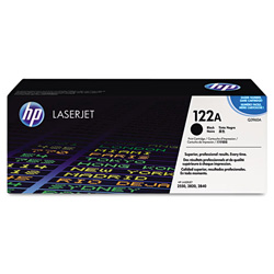 HP 122A Black Toner Cartridge, Model Q3960A, Page Yield 5000