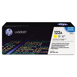 HP 122A Yellow Toner Cartridge, Model Q3962A, Page Yield 4000