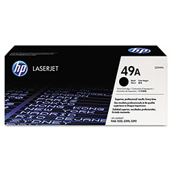 HP 49A Black Toner Cartridge, Model Q5949A, Page Yield 2500