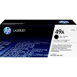 HP 49A Black Toner Cartridge, Model Q5949AG, Page Yield 2500