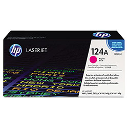 HP 124A Magenta Toner Cartridge, Model Q6003A, Page Yield 2000