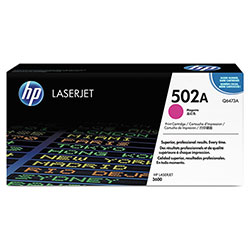 HP 502A Magenta Toner Cartridge, Model Q6473A, Page Yield 4000