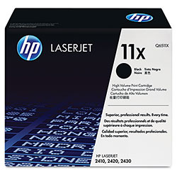 HP 11X Black Toner Cartridge ,Model ,Page Yield 12000
