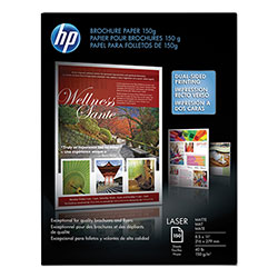 HP Matte Brochure Laser Paper, 8 1/2 x 11, 150 Sheets/Pack