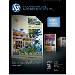 HP Glossy Color Laser Photo Paper, 8 1/2 x 11, 100 Sheets/Pack