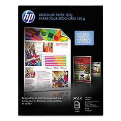 HP Glossy Color Laser Brochure Paper, 8 1/2 x 11, 150 Sheets/Pack
