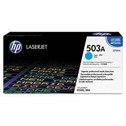 HP 503A Cyan Toner Cartridge, Model Q7581A, Page Yield 6000