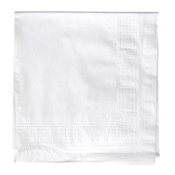 "Hoffmaster Paper Tablecover, 54""x108"", White"