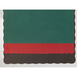 Hoffmaster Solid Color Scalloped Edge Placemats, 9 1/2 x 13 1/2, Black, 1000/Carton