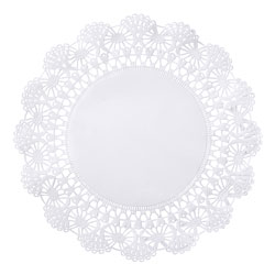 "Hoffmaster Round Lace Doilies, 10"", White"