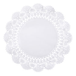 "Hoffmaster Cambridge Round Lace Doilies, 12"", White"