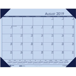 House Of Doolittle Recycled EcoTones Academic Desk Pad Calendar, 18.5wx13d, Blue Corners, 2016-2017