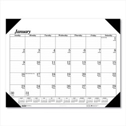 House Of Doolittle One-Color Refillable Monthly Desk Pad Calendar, 22 x 17, 2015