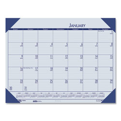 House Of Doolittle Recycled EcoTones Ocean Blue Monthly Desk Pad Calendar, 22 x 17, 2017