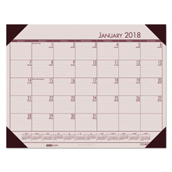House Of Doolittle Recycled EcoTones Sunrise Rose Monthly Desk Pad Calendar, 22 x 17, 2018