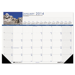 House Of Doolittle National Monuments Photographic Monthly Desk Pad Calendar, 22 x 17
