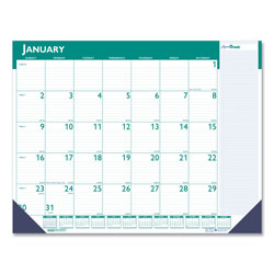 House Of Doolittle Express Track Monthly Desk Pad Calendar, 22 x 17, 2017-2018