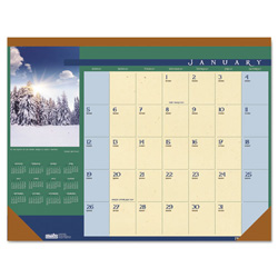 House Of Doolittle Landscapes Monthly Desk Pad Calendar, Nonrefillable, 22 x 17, Full Color