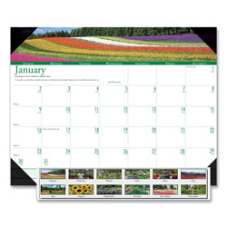 House Of Doolittle Recycled Gardens of the World Photo Monthly Desk Pad Calendar, 22 x 17, 2017