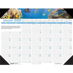 House Of Doolittle Recycled Sea Life Photographic Monthly Desk Pad Calendar, 22 x 17, 2017