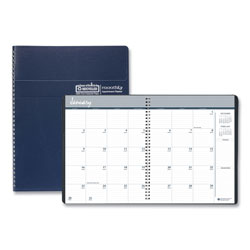 House Of Doolittle 14 Month Planner, Ruled One Month per Spread, Phone Page, 8 1/2 x 11, Blue