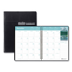 House Of Doolittle Recycled Earthscapes Full-Color Monthly Planner, 8 1/2 x 11, Black, 2017-2019