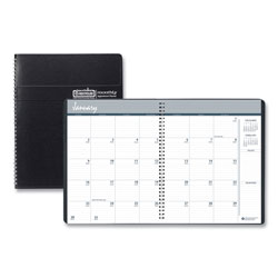 House Of Doolittle Recycled Ruled Monthly Planner w/Expense Log, 6 7/8 x 8 3/4, Black, 2016-2018