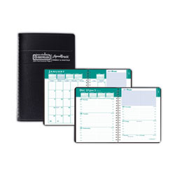 House Of Doolittle Recycled Express Track Weekly/Monthly Appointment Book, 5 x 8, Black, 2017-2018