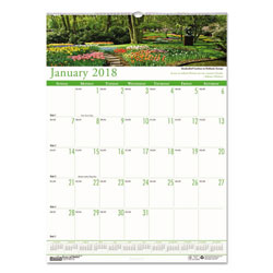 "House Of Doolittle Gardens Of The World Monthly Wall Calendar, Wirebound, 12"" x 16 1/2"""