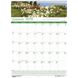 House Of Doolittle Gardens of the World Monthly Wall Calendar, Wirebound, 15 1/2 x 22