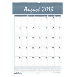 House Of Doolittle Bar Harbor Wirebound Academic Monthly Wall Calendar, 22 x 31-1/4