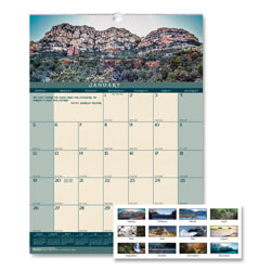 House Of Doolittle Recycled Landscapes Monthly Wall Calendar, 12 x 16 1/2, 2017