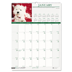 House Of Doolittle Puppies Wall Calendar, Monthly, 12 x 16-1/2