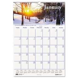 House Of Doolittle Recycled Scenic Beauty Monthly Wall Calendar, 15 1/2 x 22, 2017