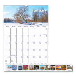 House Of Doolittle Recycled Scenic Beauty Monthly Wall Calendar, 12 x 16 1/2, 2018