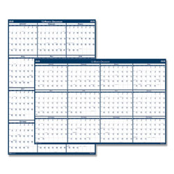 "House Of Doolittle Laminated Poster Style Reversible/Erasable Yearly Wall Calendar, 32"" x 48"""