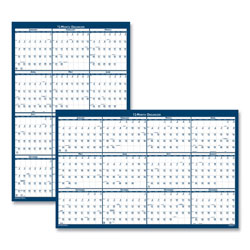 House Of Doolittle Laminated Write-On/Wipe-Off Jumbo Yearly Wall Calendar, 66 x 33