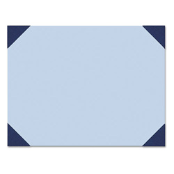 House Of Doolittle Desk Pad, 25 Sheet Pad, 22 x 17, Blue Denim/Ocean Blue