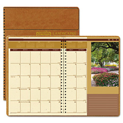 House Of Doolittle Recycled Landscapes Full-Color Monthly Planner, Ruled, 7 x 10, Brown, 2017