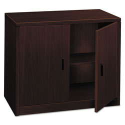 Hon 10500 Series Storage Cabinet With Doors, 36w x 20d x 29-1/2h, Mahogany