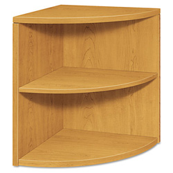 Hon 10500 Series Two-Shelf End Cap Bookshelf, 24w x 24d x 29-1/2h, Harvest