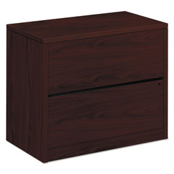 Hon 10500 Series Two-Drawer Lateral File, 36w x 20d x 29-1/2h, Mahogany
