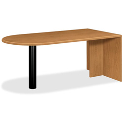 "Hon 10721 Peninsula Desk w/End Panel, 51-1/2"" x 26"" x 31-3/10"", Harvest"