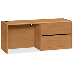 "Hon Credenza, with Lateral File, Right Pedestal, 74""x26""x31 3/10"", Harvest"
