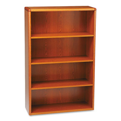 Hon 10700 Series Wood Bookcase, 4 Shelves, Henna Cherry, 36w x 13 1/8d x 57 1/8h