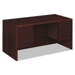 Hon 10700 Series Double Pedestal Desk, 3/4 Height Pedestals, Mahogany, 60 x 30