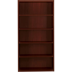 Hon 11500 Series Valido Five Shelf Bookcase, Mahogany, 36wx13 1/8dx71h