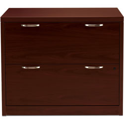 Hon 11500 Series Valido Two Drawer Lateral File, Mahogany, 36wx20dx29 1/2h